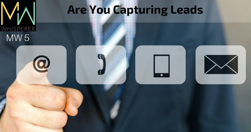 Are You Capturing Leads?