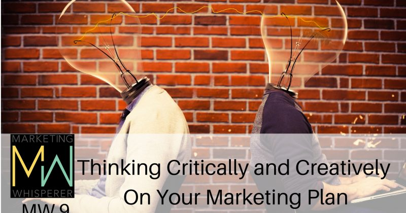 Thinking Critically and Creatively On Your Marketing Plan