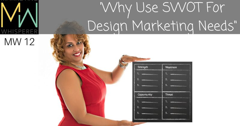 """Why Use SWOT For  Design Marketing Needs"""
